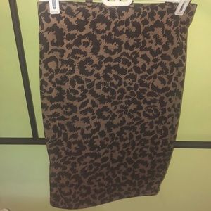 Never used. Leopard Pencil Skirt from Target